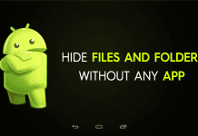 How To Hide Important Files And Folders In Android