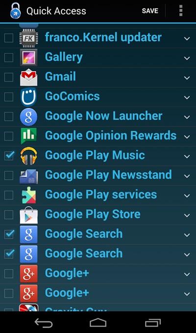 lockscreen app access 1