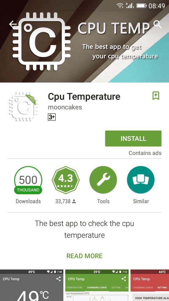 Install CPU temperature