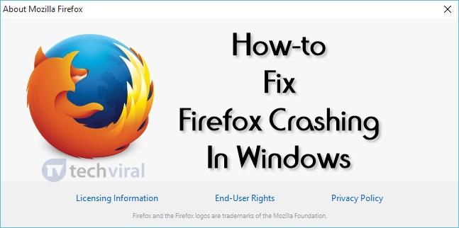 How To Fix Firefox Crashing In Windows