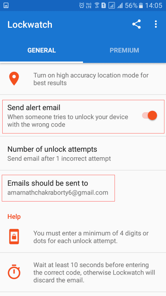 Using LockWatch- Thief Catcher