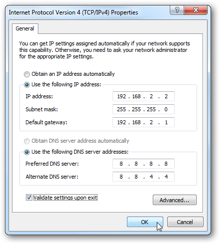 Using Network Setting