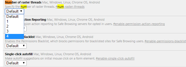 Chrome Flag Settings