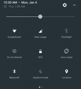 Refurbished and Quick Settings