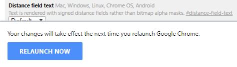 Chrome Flag Settings