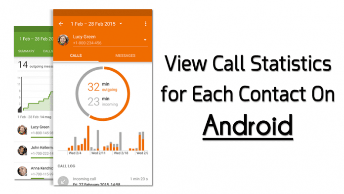 How to View Call Statistics for Each Contact On Android