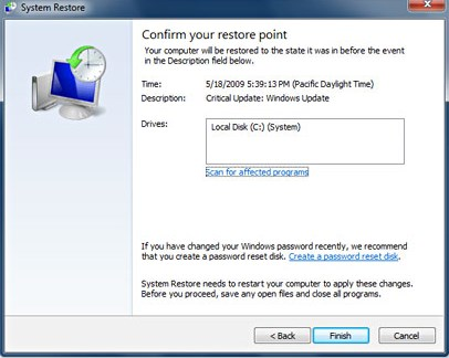 Using System Restore