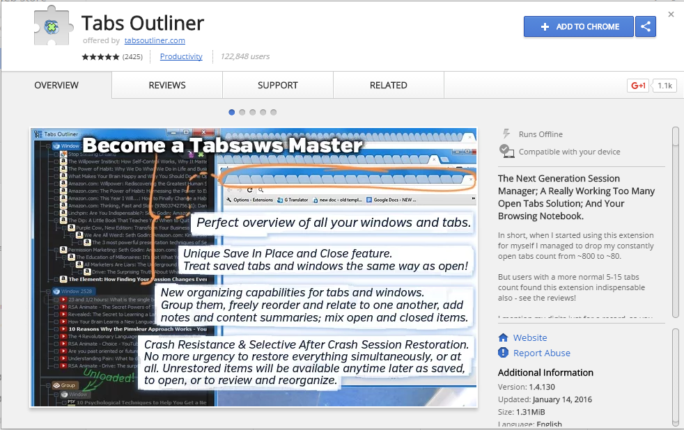 Best Google Chrome Tab Manager Extensions