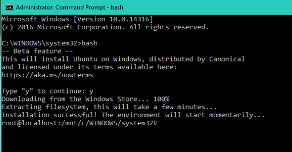 How to Run Linux Bash on Windows 10