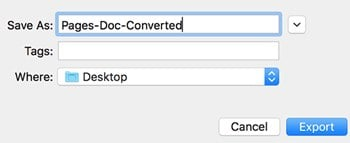 Convert Pages Files to Microsoft Word Format