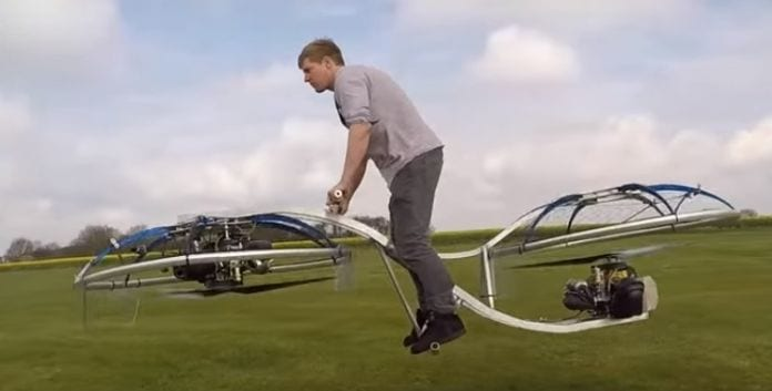 Crazy Inventor Builds An Extraordinary Flying Hoverbike