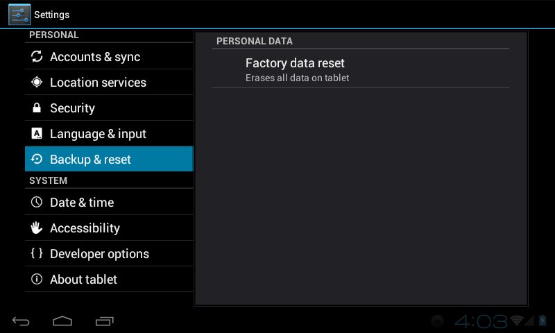 Restore Phone To Factory Settings