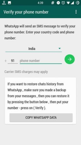 how to use two accounts is gbwhatsapp