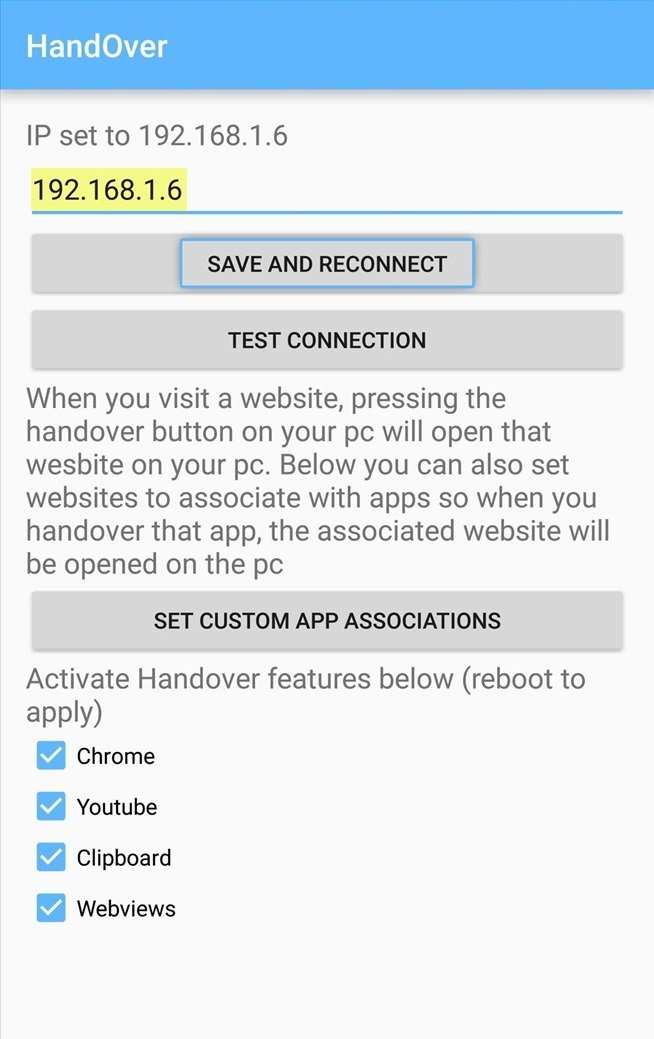 Handover android