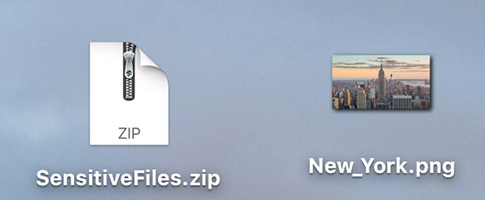 Hide ZIP Archive in an Image File on a Mac