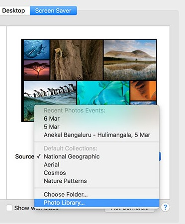 Set a Photo Library as the Screen Saver on Your Mac