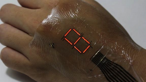 Now You Can Turn Your Hand into a Display With Ultrathin E-Skin