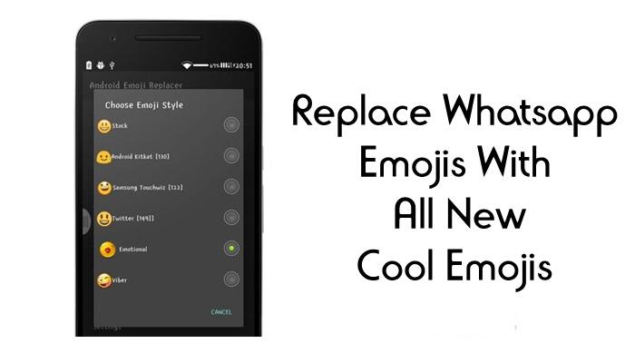 استبدل Whatsapp Emojis بكل الرموز التعبيرية الرائعة الجديدة