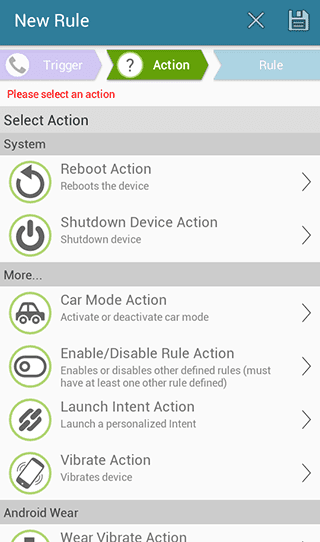 select 'Shutdown Device Action'