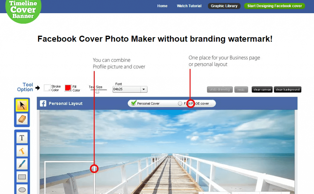 Combine Facebook Cover With Profile Picture