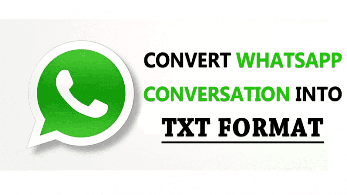 How to Convert WhatsApp Conversation Into TXT Format