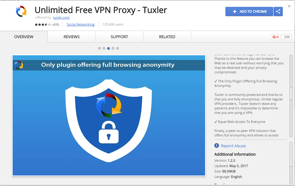 tuxler vpn chrome