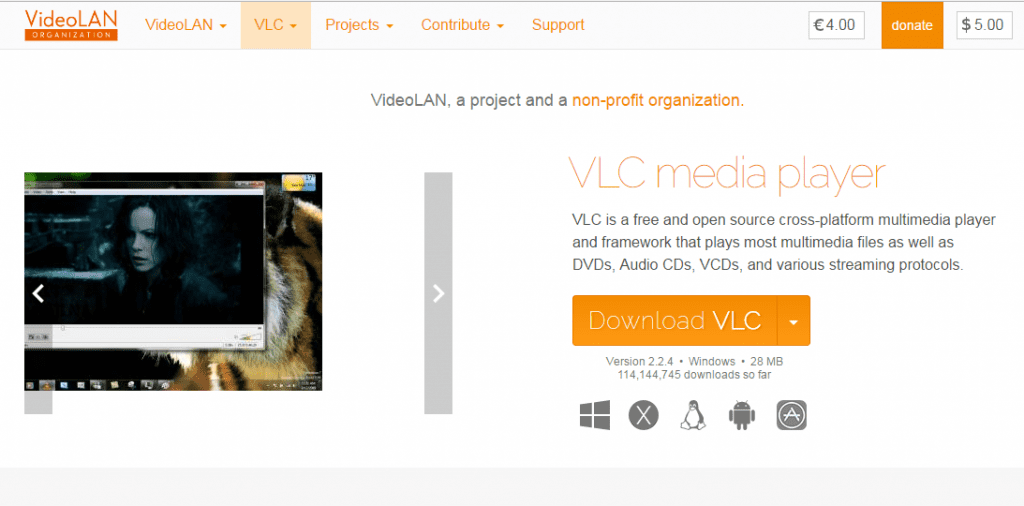 Download & install VLC media player
