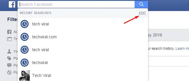 How to clear everything you search on facebook in web and app ccuart Images