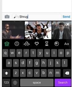 Use Giphy Right from your iPhone Keyboard