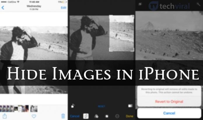 How To Hide Images In iPhone Without Any App