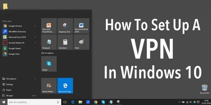 how to add vpn windows 10