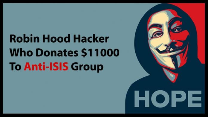 Meet Robin Hood Hacker Who Donates $11000 To Anti-ISIS Group