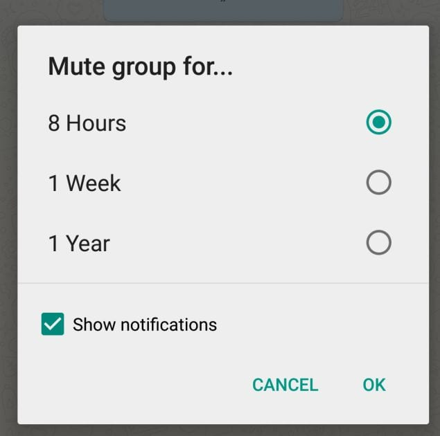 Mute The Group Chats