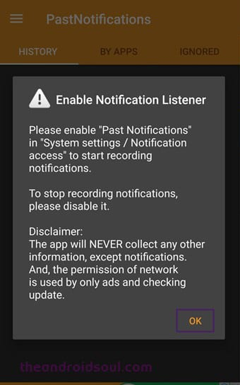Past Notification 1 - How to Save and Make Backup of Notifications In Android