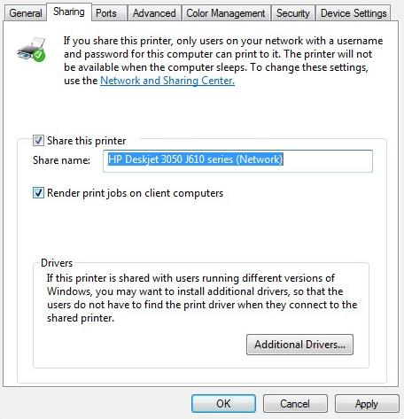 Imprimir em uma impressora Windows conectada do Mac