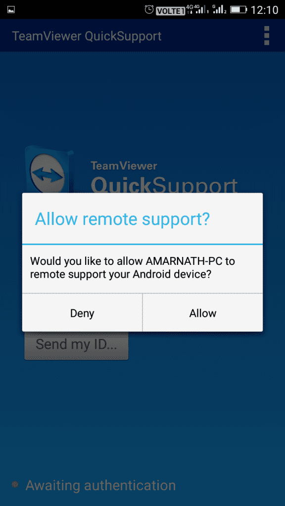 "Allow the ""Remote support"""