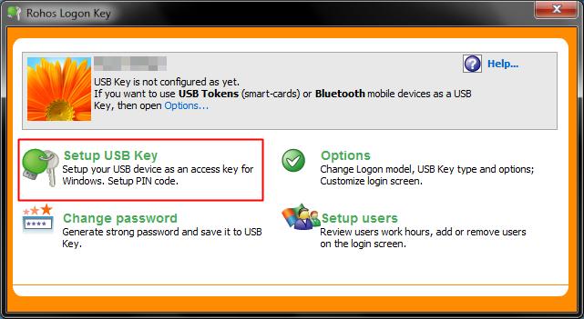 Rohos USB Logon Key