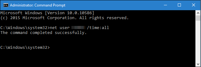 Set Up Time Limit for a Windows 10 User