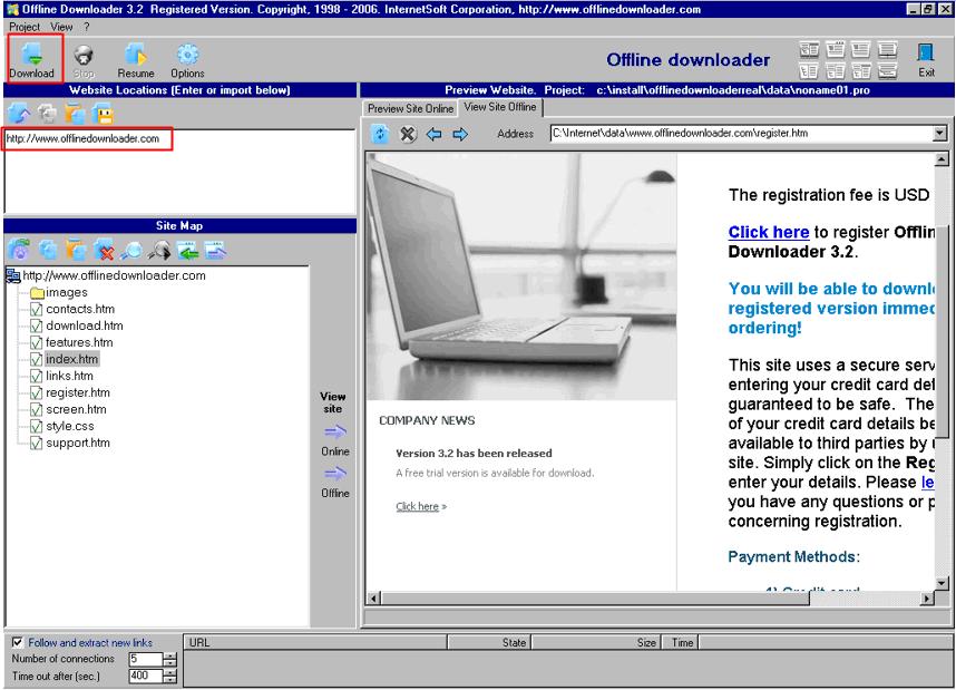 Offline Downloader