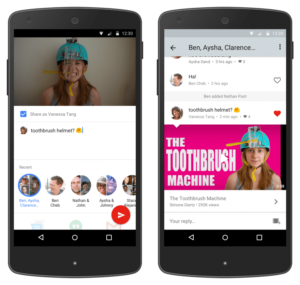 YouTube Instant Messaging Feature