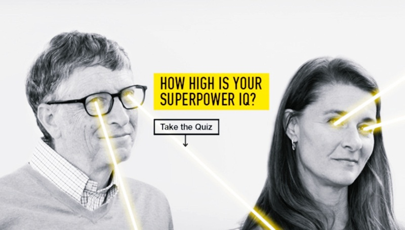 Bill Gates Wants To Know How High Is Your Superpower IQ