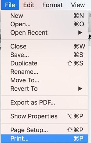 Create PDF in Mac