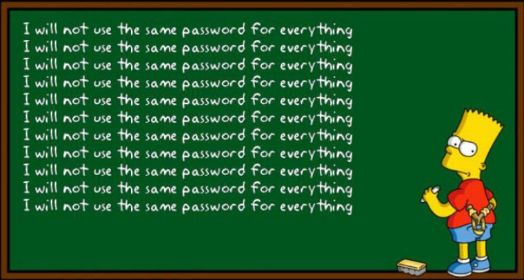 Don't Use Same Passwords For Different Accounts