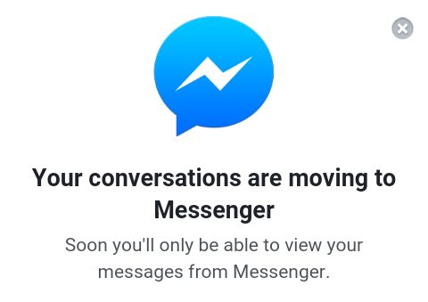 Your Conservations are Moving to Messenger