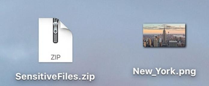 Hide ZIP Archive in an Image File on Mac