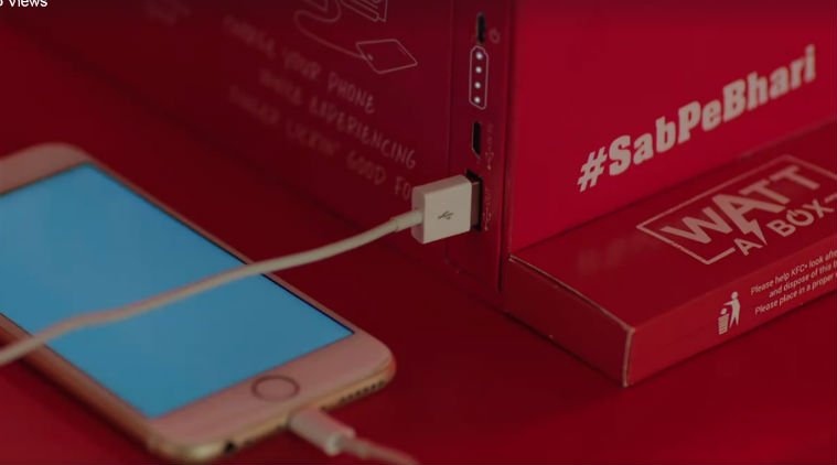 """KFC's New """"Watt a Box"""" Can Charge Your Smartphone"""