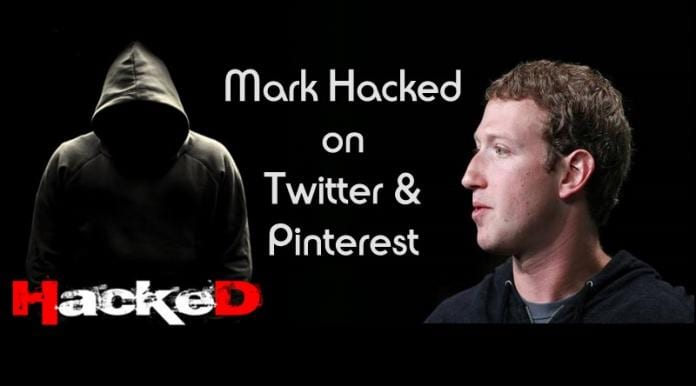 Mark Zuckerberg Hacked on Twitter and Pinterest