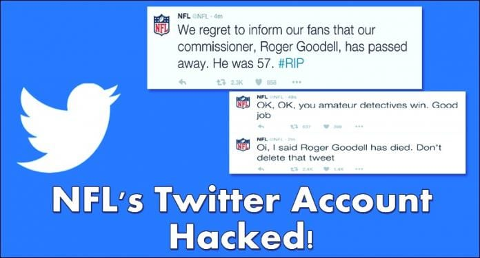 NFL's Twitter Account Hacked! The Reason is