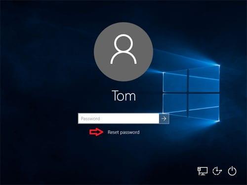 Use The Password Reset Option