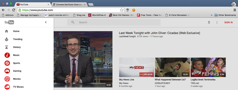 Youtube Material Design View